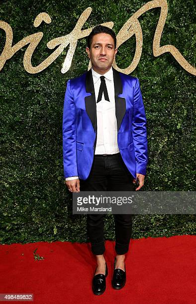 Osman Yousefzada attends the British Fashion Awards 2015 at London Coliseum on November 23 2015 in London England
