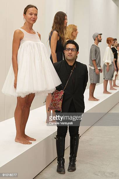 Osman Yousefzada attends the Cittadellarte Fashion - Bio Ethical Sustainable Trend Opening at the Fondazione Pistoletto on September 22, 2009 in...
