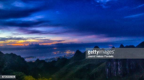 Osmeña Peak at Sunset