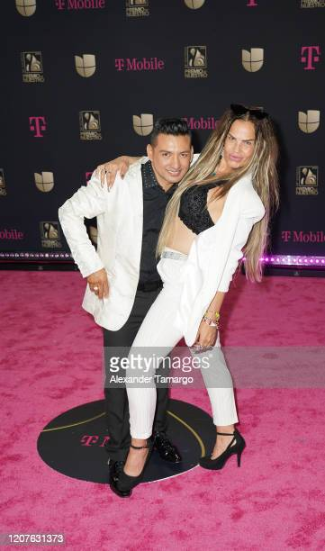 Osmir Garay and Niurka Marcos attend Univision's Premio Lo Nuestro 2020 at AmericanAirlines Arena on February 20 2020 in Miami Florida