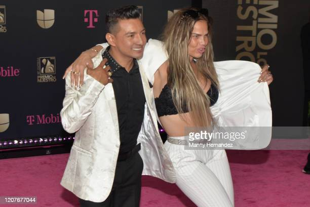 Osmir Garay and Niurka Marcos attends Univision's Premio Lo Nuestro 2020 at AmericanAirlines Arena on February 20 2020 in Miami Florida