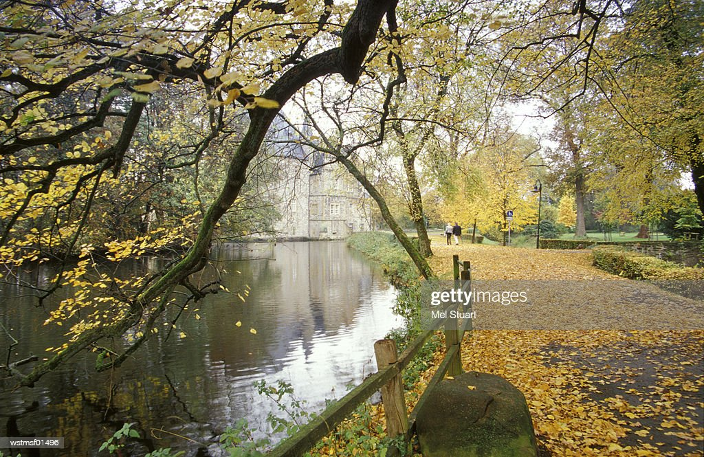 Osnabruecker country, Germany, Autumn walk along the Schelenburg : Stock Photo