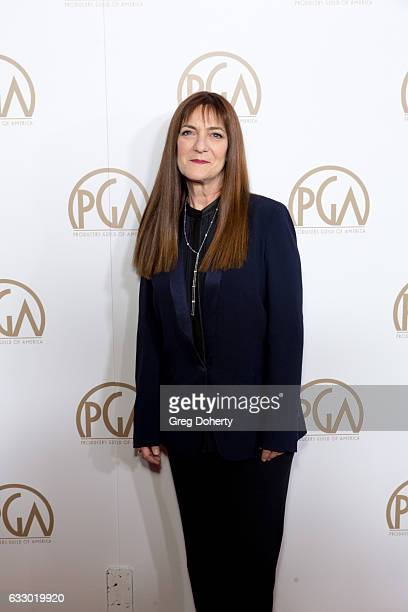 Osnat Shurer arrive for the 28th Annual Producers Guild Awards at The Beverly Hilton Hotel on January 28 2017 in Beverly Hills California