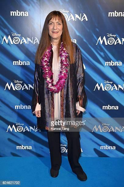 Osnat Shurer attends the UK Gala screening of 'MOANA' at BAFTA on November 20 2016 in London England