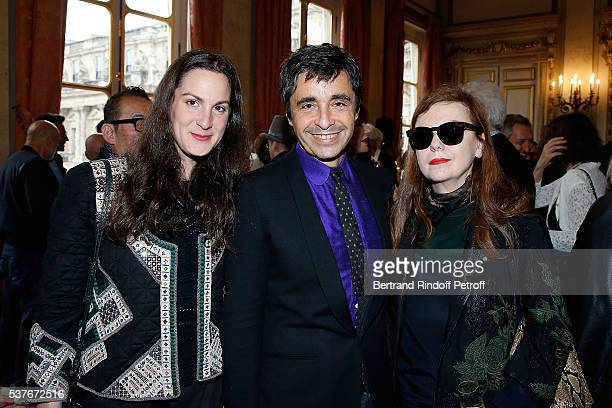 Osnath Assayag Ariel Wizman and Martine Sitbon attend Kenzo Takada Is Honoured With The Insignes of Chevalier De La Legion D'Honneur at Conseil...