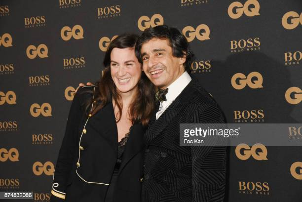 Osnath Assayag Wizman and Ariel Wizman attend the Les GQ Men Of The Year Awards 2017 Photocall at Trianon on November 15 2017 in Paris France