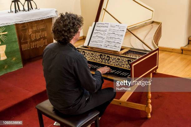 Osorno Chile 1º february 2019 The prominent German harpsichordist Léon Berben performed a concert in the Lutheran church of the city of Osorno as...