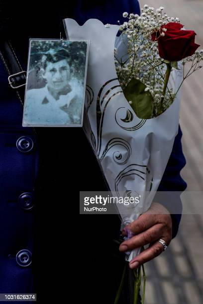 Osorno Chile 11 September 2018 Relatives of disappeared and executed political prisoners social organizations and political parties commemorated the...