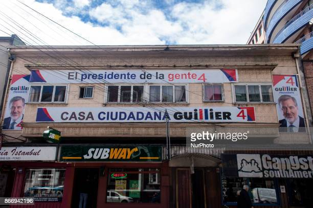 Osorno Chile 26 October 2017 House of command of presidential candidate Nicolas Guillier Presidential parliamentary and regional council candidates...