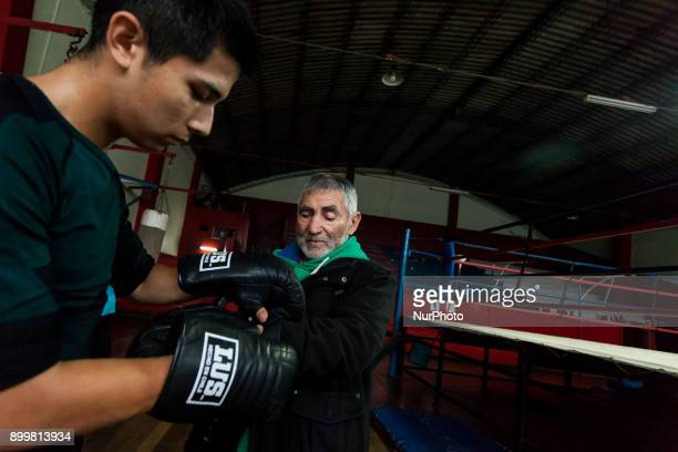 Osorno Chile 29 December 2017 In the image Hernán Rosas Barrientos known as Che Rosita former boxer belongs to Club Mexico since 1951 at 87 years old...