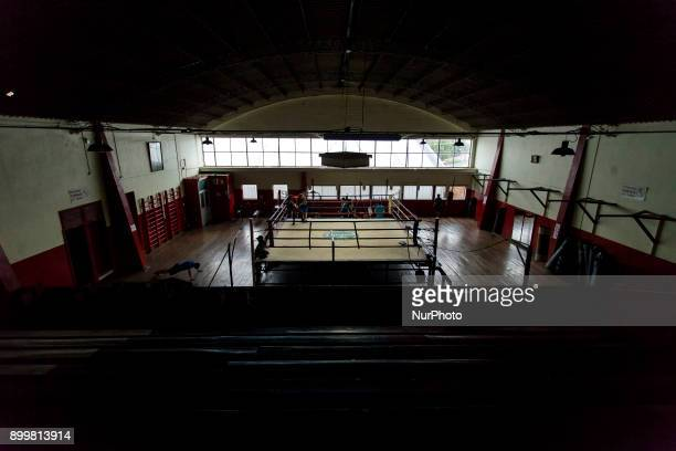Osorno Chile 29 December 2017 In the picture an overview of the Club Mexico gym In the Club Mexico of the city of Osorno the last boxing trainings of...