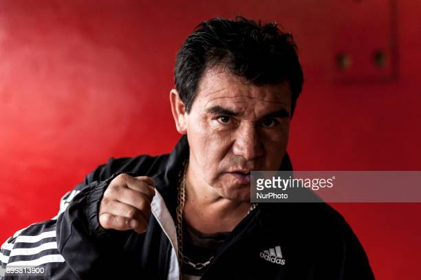 Osorno Chile 29 December 2017 Victor Hugo Fuentealba former professional boxer from the Mosca category former Chilean champion and current Club...