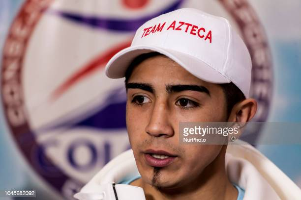 """Osorno, Chile. 4 October 2018. The boxer Claudio """"Azteca"""" Laviñanza. Ceremony of weighing for the professional combat for the Gallo..."""
