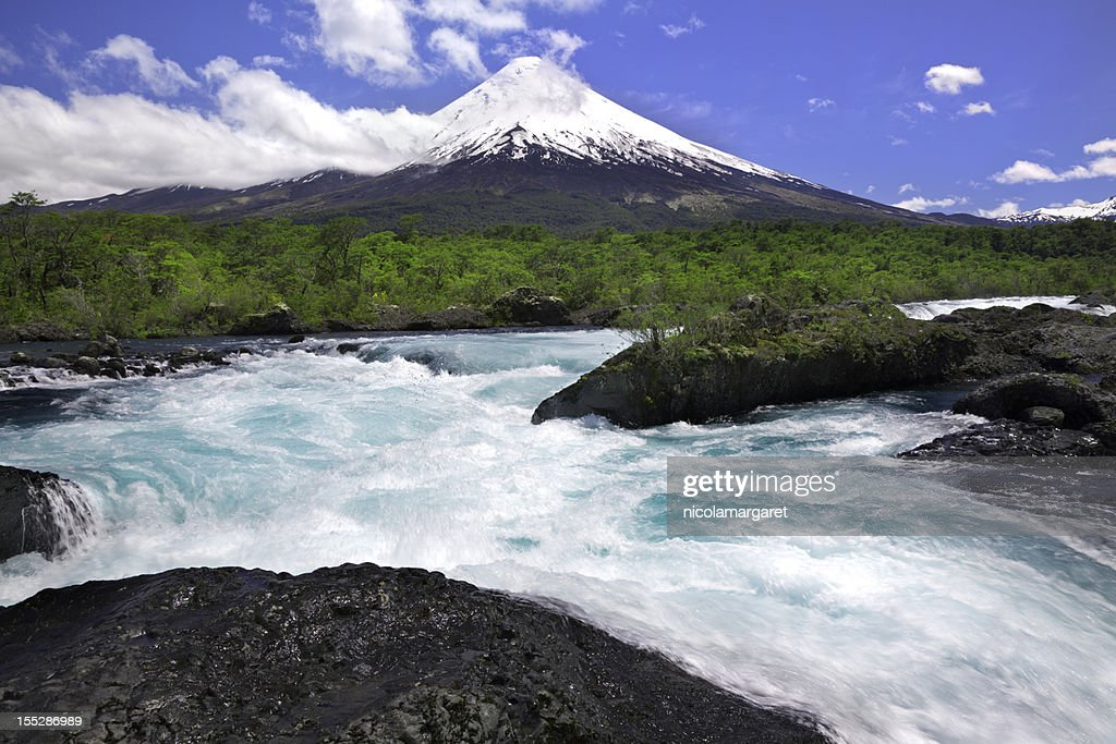 Osorno Volcano in Chilean Lake District : Stock Photo