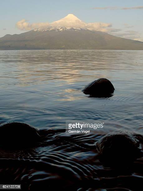 Osorno volcano over Llanquihue lake, Chile