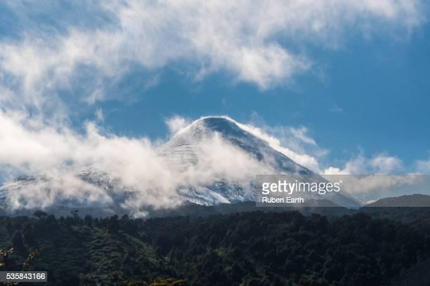 osorno volcano summit - puerto montt - fotografias e filmes do acervo