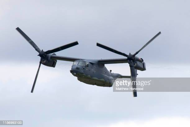 Osprey performs during the International Air Tattoo at RAF Fairford on July 21 2019 in Fairford England The Royal International Air Tattoo is the...