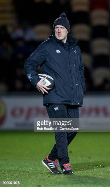 Ospreys' Head Coach Steve Tandy during the Guinness Pro14 Round 12 match between Dragons and Ospreys at Rodney Parade on December 31 2017 in Newport...
