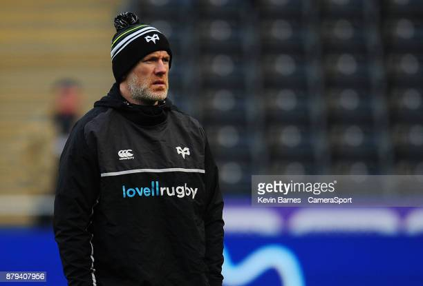 Ospreys' Head Coach Steve Tandy during the Guinness Pro14 Round 9 match between Ospreys and Glasgow Warriors at Liberty Stadium on November 26 2017...
