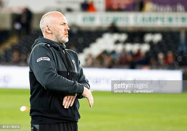 Ospreys' Head Coach Steve Tandy during the pre match warm up during the Guinness PRO12 Round 6 match between Ospreys v Cardiff Blues at Liberty...