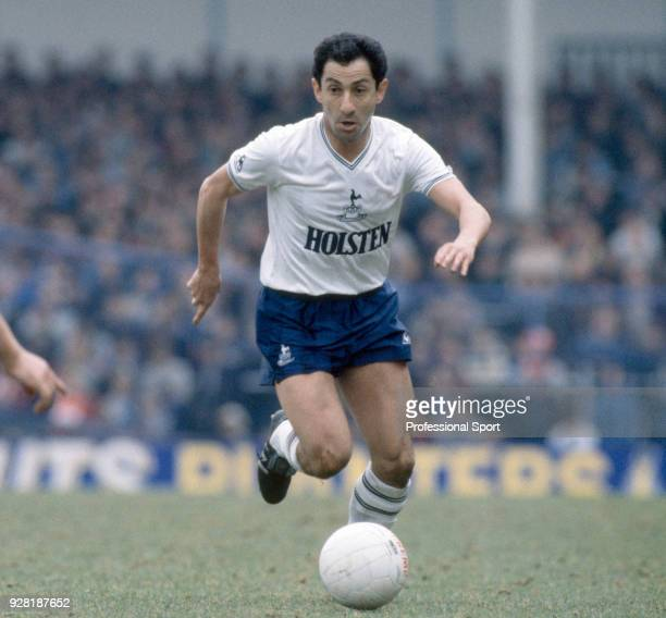Ossie Ardiles of Tottenham Hotspur in action at White Hart Lane in London circa 1983