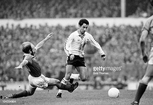 Ossie Ardiles of Tottenham Hotspur is tackled by Archie Gemmill of Birmingham City during the Tottenham Hotspur v Birmingham City FA Cup 5th Round...
