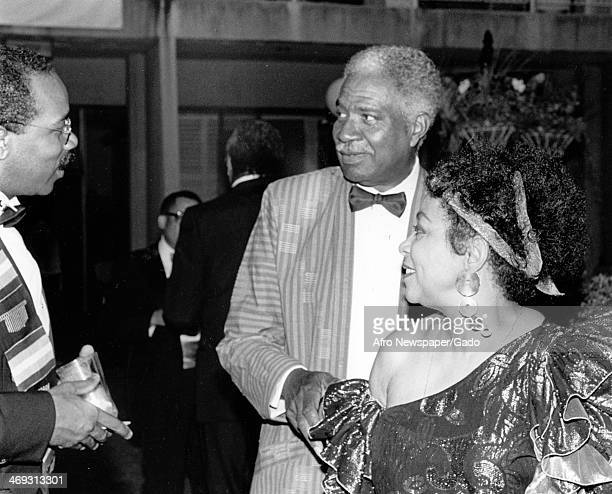 Ossie Davis actor and Ruby Dee actress at a reception hosted by Earl Graves 1999