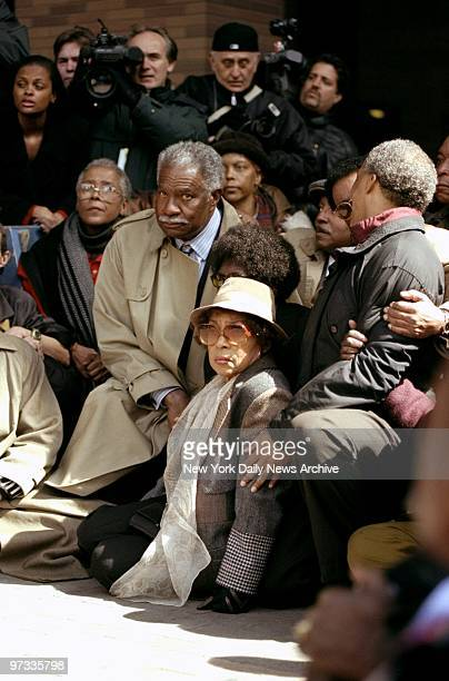 Ossie Davis and Ruby Dee are among the demonstrators outside Police Headquarters protesting the shooting of Amadou Diallo by four police officers