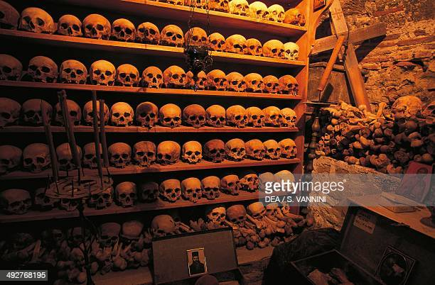 Ossuary in the Monastery of the Transfiguration of Christ or the Great Meteora Meteora Trikala Thessaly Greece