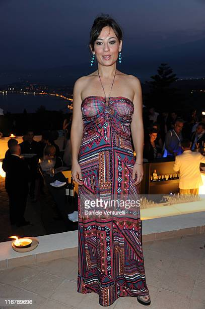 ostanza D'Ardia attends the Celebrities At The Lancia Cafe during the 57th Taormina Film Fest 2011 on June 17 2011 in Taormina Italy