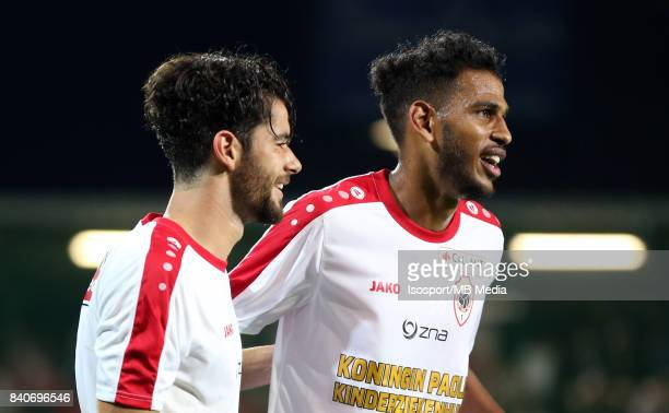 20170827 Ostend Belgium / Kv Oostende v Antwerp Fc / 'nIvo RODRIGUES Faris HAROUN Celebration'nFootball Jupiler Pro League 2017 2018 Matchday 5 /...