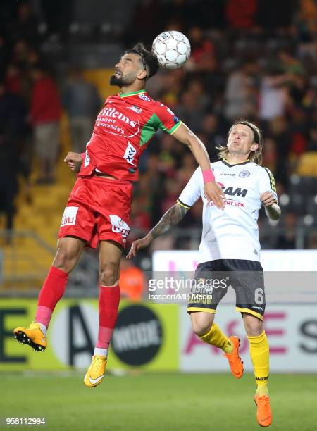 20180509 Ostend Belgium / Kv Oostende v Sporting Lokeren / 'nRamin REZAEIAN Ari Freyr SKULASON'nFootball Jupiler Pro League 2017 2018 PlayOff 2 B...