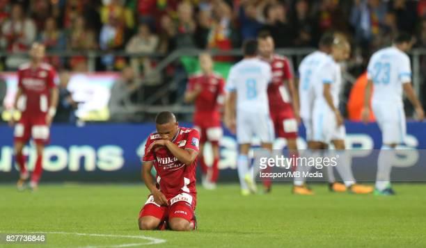 Kv Oostende v Olympique de Marseille / 'nAndile JALI Deception'nFootball Uefa Europa League 2017 2018 Third Qualifying round second leg / 'nPicture...