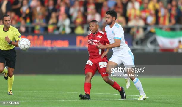 Kv Oostende v Olympique de Marseille / 'nAndile JALI Morgan SANSON'nFootball Uefa Europa League 2017 2018 Third Qualifying round second leg /...