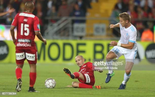 Kv Oostende v Olympique de Marseille / 'nFranck BERRIER Tomas HUBOCAN'nFootball Uefa Europa League 2017 2018 Third Qualifying round second leg /...