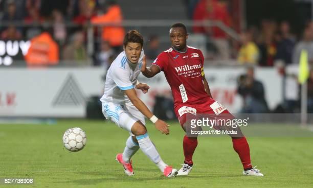 Kv Oostende v Olympique de Marseille / 'nHiroki SAKAI Sebastien SIANI'nFootball Uefa Europa League 2017 2018 Third Qualifying round second leg /...