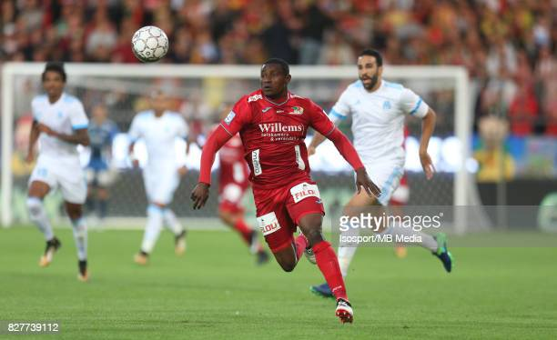 Kv Oostende v Olympique de Marseille / 'nJoseph AKPALA'nFootball Uefa Europa League 2017 2018 Third Qualifying round second leg / 'nPicture Vincent...