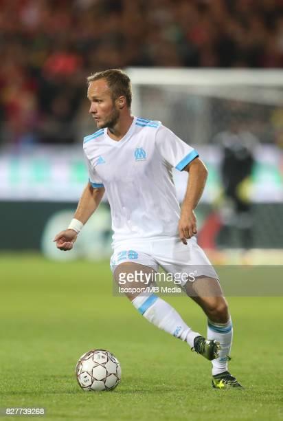 Kv Oostende v Olympique de Marseille / 'nValere GERMAIN'nFootball Uefa Europa League 2017 2018 Third Qualifying round second leg / 'nPicture Vincent...