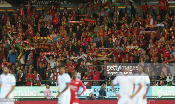 Kv Oostende v Olympique de Marseille / 'nSupporters'nFootball Uefa Europa League 2017 2018 Third Qualifying round second leg / 'nPicture Vincent Van...
