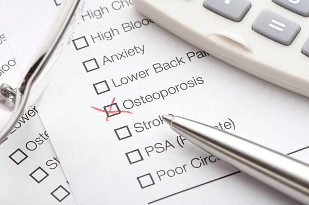 Osteoporosis checked on a medical test