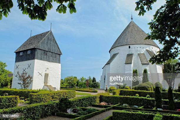 Osterlars Denmark Bornholm Island 13th August 2015 Round church located just north of the village of sterlars It is the largest and possibly the...