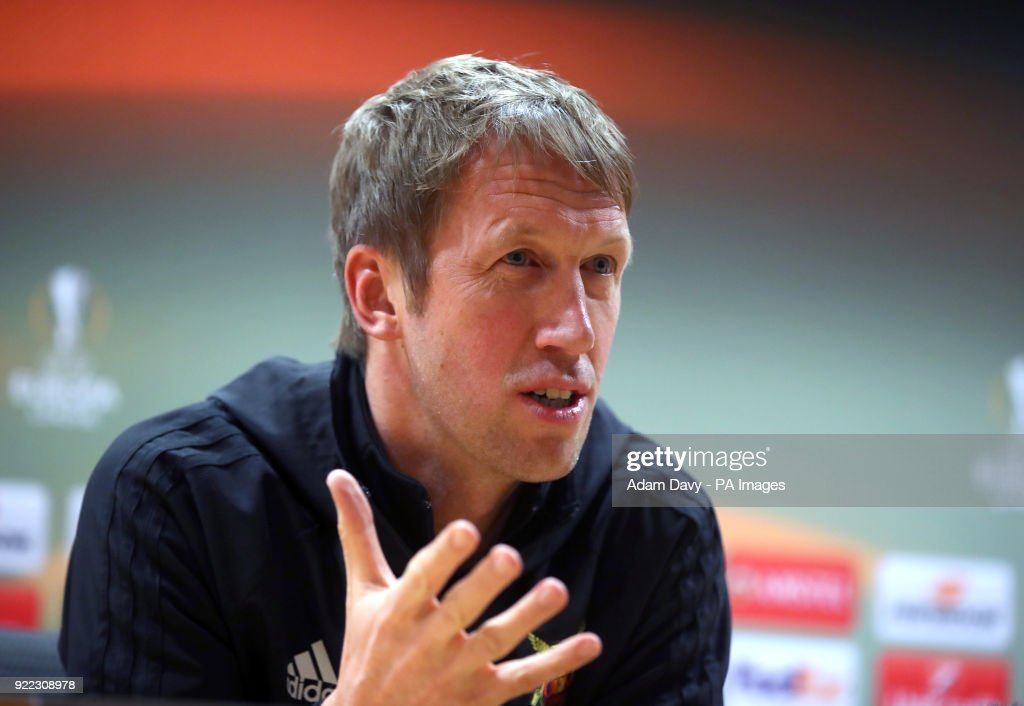 Ostersunds FK manager Graham Potter during the press conference at the Emirates Stadium, London.
