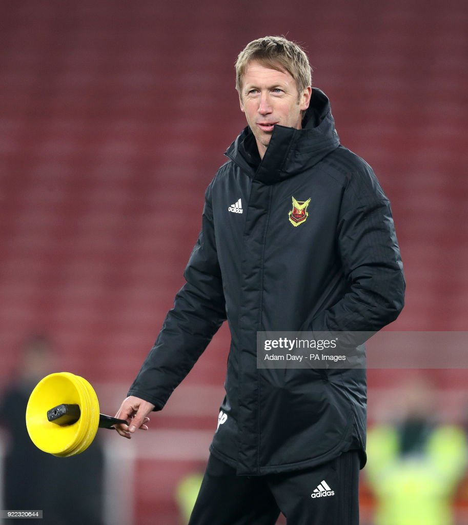 Ostersunds FK manager Graham Potter during the training session at the Emirates Stadium, London.