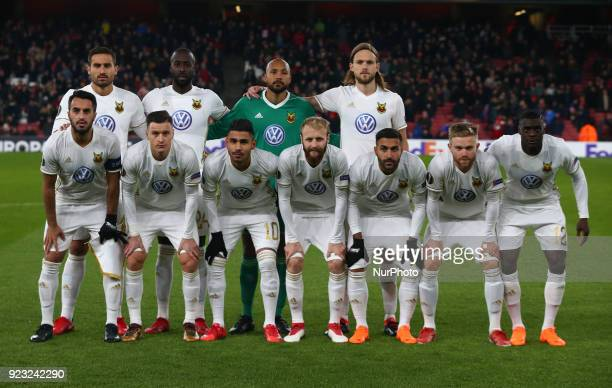 Ostersunds FK Team Shoot during UEFA Europa League Round 32 2nd Leg match between Arsenal and Ostersunds FK at The Emirates London 22 Feb 2018
