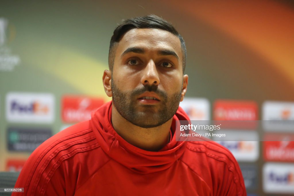 Ostersunds FK's Brwa Nouri during the press conference at the Emirates Stadium, London.