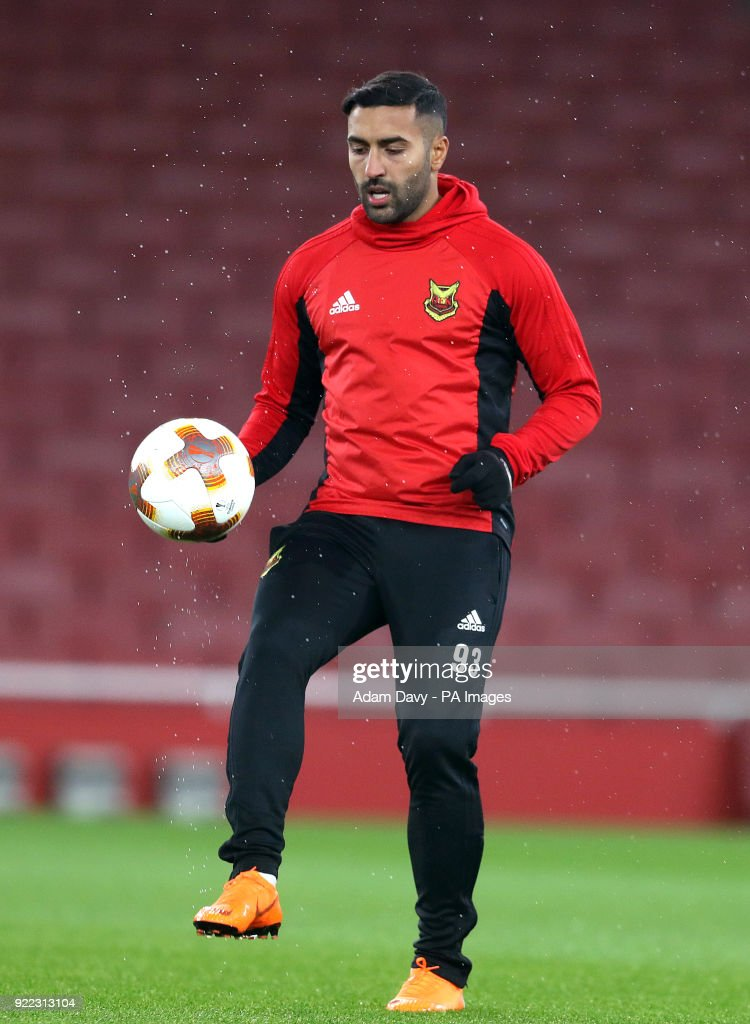 Ostersunds FK's Brwa Nouri during the training session at the Emirates Stadium, London.
