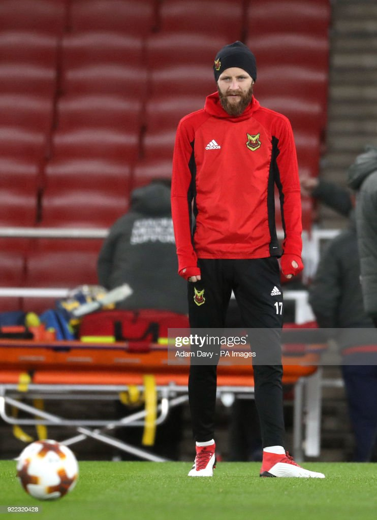 Ostersunds FK's Curtis Edwards during the training session at the Emirates Stadium, London.