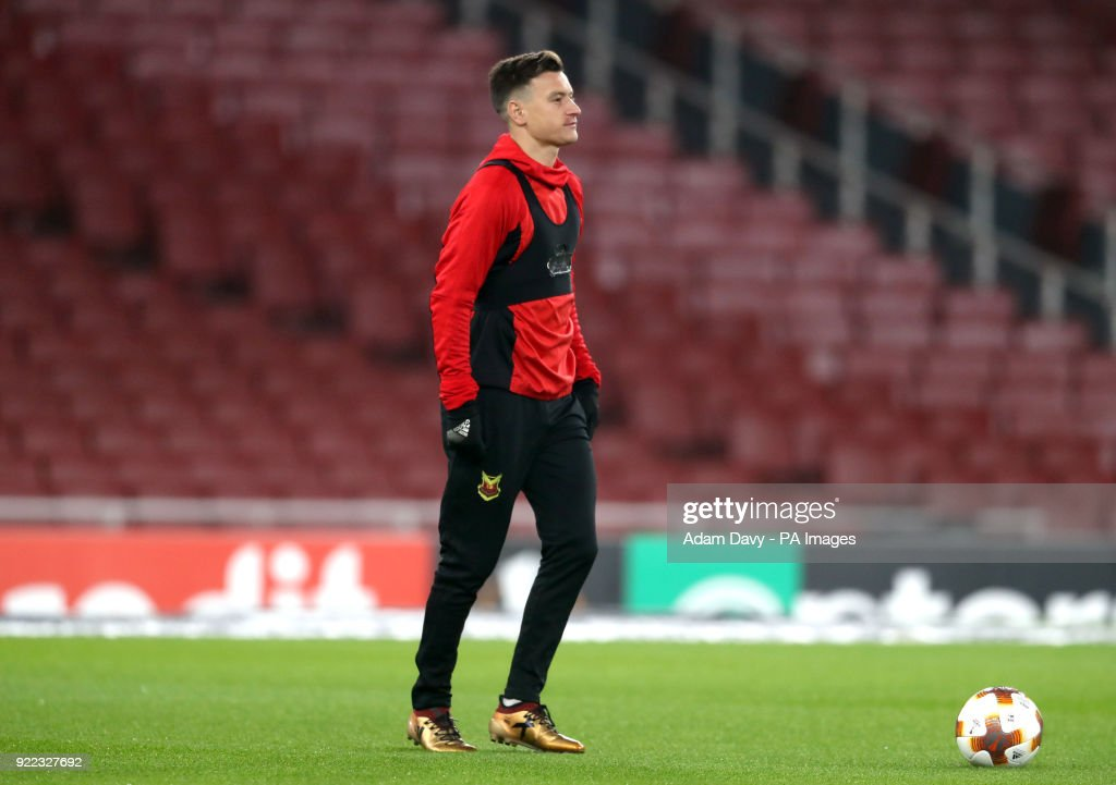 Ostersunds FK's Jamie Hopcutt during the training session at the Emirates Stadium, London.