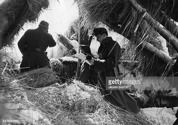 2WK Ostfront Russlandfeldzug Beteiligung Ungarn Gefechtsstand einer ungarischen leichten Divisiondie zur Bekämpfung versprengter sowjetischer...