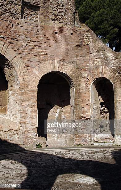 Ostia Antica Baths of the Seven Sages 2nd century AD Round hall Detail Near Rome Italy